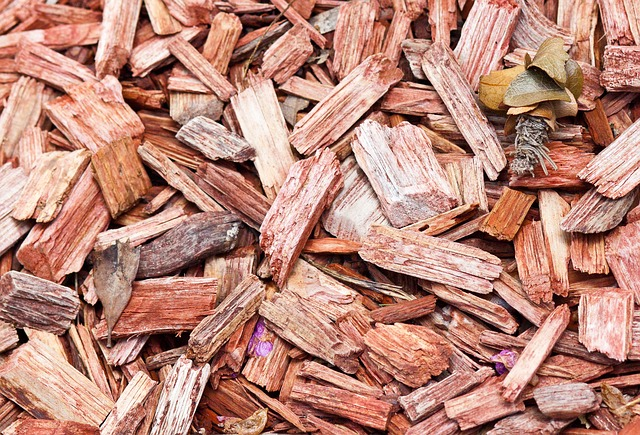 Fresh wood chips to mulch trees and goes well in any yard or garden.